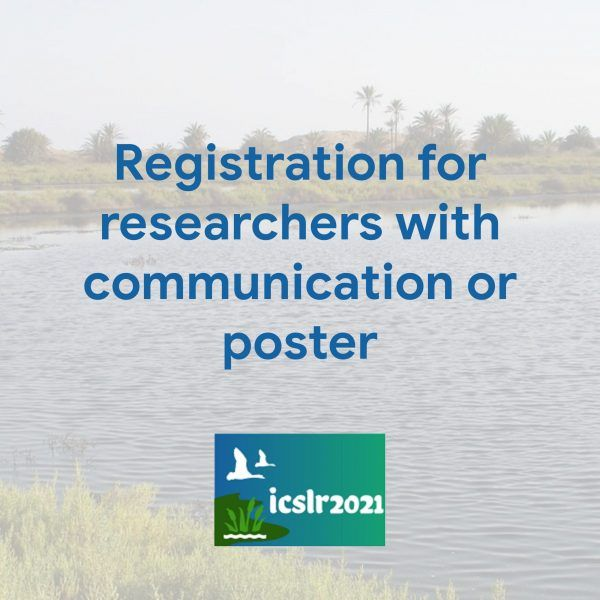 Registration for researchers with communication or poster scaled